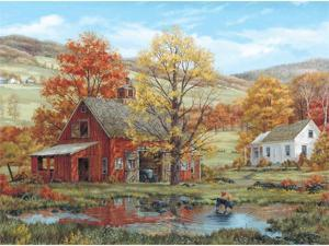 "Jigsaw Puzzle Fred Swan 1000 Pieces 24""X30""-Friends In Autumn"