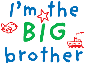 Uptown Baby Color Transfer Iron-Ons 2/Pkg-I'm The Big Brother