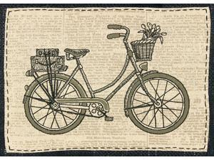 """Handmade Collection Classic Bicycle Stamped Embroidery Kit-10""""X7"""""""