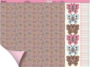 "Dawn Bibby Double-Sided Plus Cardstock 12""X12""-Butterflies"