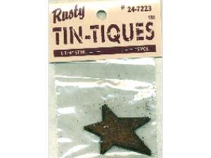 "Rusty Tin-Tiques Tin Cut-Outs-Star 1-3/4"" 3/Pkg"