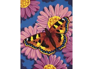 "Learn To Paint! Paint By Number Kit 9""X12""-Butterfly Blossom"