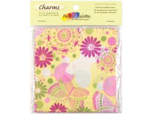 """Fabric Palette Charm Pack 5""""X5"""" Cuts 100% Cotton 20/Pkg-Flutterby"""