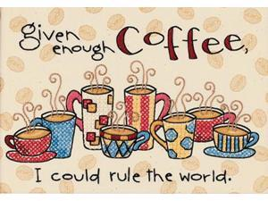 "Enough Coffee Mini Stamped Cross Stitch Kit-7""X5"""