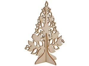 Wood Flourishes-Small Stand-Up Tree 4.75""
