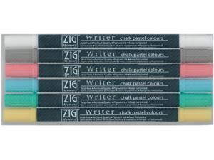 Zig Memory System Writer Chalk Pastel Dual-Tip Markers 6/Pkg-