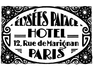 Tim Holtz Red Rubber Stamp-Paris Hotel