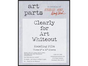 "Wendy Vecchi Clearly For Art Modeling Film Sheets 3/Pkg-Whiteout, 8""X10"""