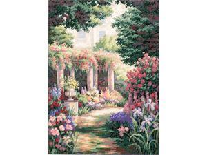 """Gold Collection Floral Retreat Counted Cross Stitch Kit-11""""X15"""""""