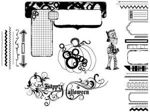 Suzanne Carillo Cling Rubber Stamp Set-Fun Halloween