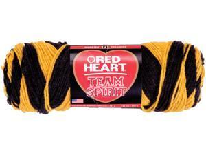 Red Heart Team Spirit Yarn-Gold/Black