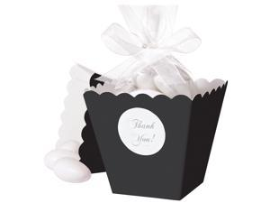 Popcorn Box Favor Kit Makes 50-Black
