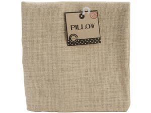 "Burlap Pillow Square 18""X18""-Natural"