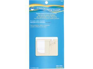 Iron-On Pockets 100% Cotton 2/Pkg-