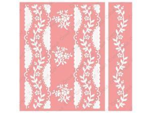 Cuttlebug A2 Embossing Folder/Border Set-Anna Griffin Organdy Stripe