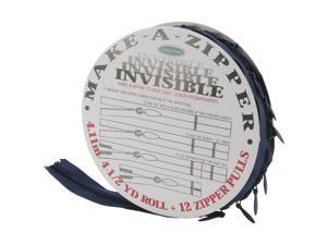 Make-A-Zipper Kit Invisible 4-1/2yd-Navy