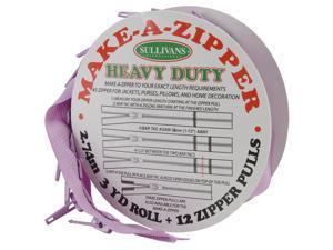 Make-A-Zipper Kit Heavy Duty 3yd-Purple