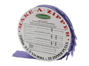 Make-A-Zipper Kit 5-1/2yd-Medium Purple