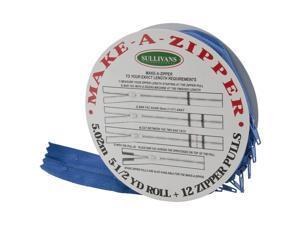 Make-A-Zipper Kit 5-1/2yd-Royal Blue