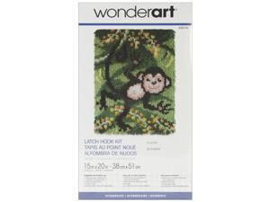 "Wonderart Latch Hook Kit 15""X20""-Swingin'"
