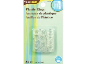 "1/2"" Plastic Rings 24/Pkg-Clear"
