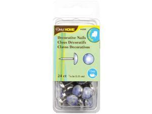 "Upholstery Decorative Nails 7/16"" 24/Pkg-Blue Stone"