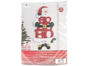 "Ho-Ho-Ho Santa W/Feet Wall Hanging Felt Applique Kit-10""X19-1/2"""