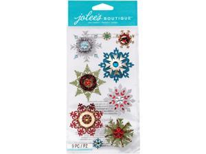 Jolee's Christmas Stickers-Embellished Snowflakes