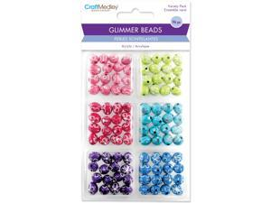 Glimmer Acrylic Disco Ball Bead Variety Pack 96/Pkg-Daisy Bling