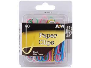 Paper Clips-Giant Vinyl Coated-Assorted Colors