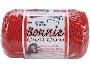 Bonnie Macrame Craft Cord 6mm 100 Yards-Red