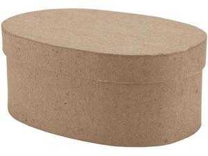 """Paper-Mache Small Oval Box-5""""X3.5""""X2.125"""""""