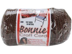Bonnie Macrame Craft Cord 6mmX100yd-Brown