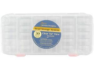 """Stackable Bead Storage System 9.5""""X6.375""""X1.125""""-Clear"""