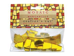Crafter's Cut Colored Mirrors 1/6 Pound/Pkg-Amber