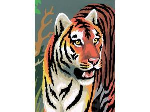 "Mini Paint By Number Kit 5""X7""-Tigers - Junior"