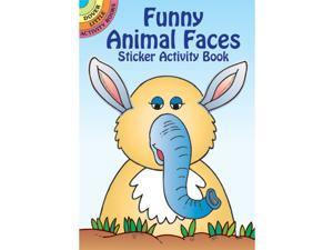 Dover Publications-Funny Animal Faces Stckr Actv Bk