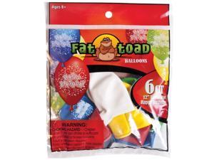 "Fat Toad Decorator Balloons Round 12"" 6/Pkg-Birthday Confetti"