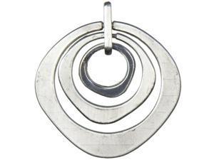 Jewelry Basics Metal Pendant 1/Pkg-Silver Ringed Circle