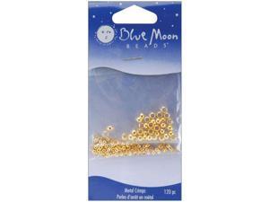 Blue Moon Value Pack Assorted Metal Findings-Crimp Beads Gold 120/Pkg Asst.