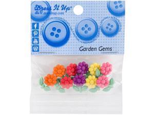 Dress It Up Embellishments-Garden Gems