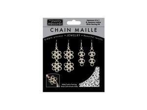 Chain Maille Jewelry Kit-Japanese 6-in-1 & Lattice Earrings - Sil