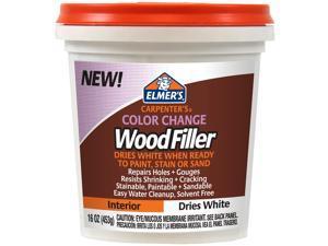 Elmer's Color Change Wood Filler 16Oz-White