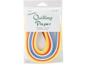 """Quilling Paper .125"""" 200/Pkg-10 Color Assortment"""