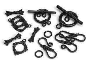 Jewelry Basics Closure Pack 8 Sets/Pkg-Black