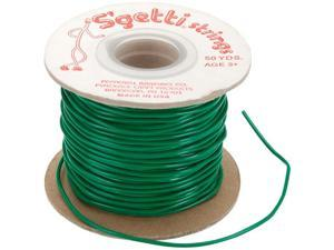 S'getti String Plastic Lacing 50 Yard Spool-Kelly Green