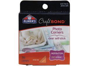 Elmers Craftbond Adhesive Photo Corners 250/Pkg-Clear
