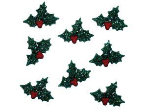Dress It Up Holiday Embellishments-Glitter Holly