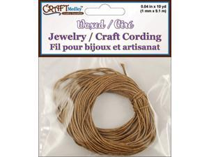 Jewelry/Craft Waxed Cording 1mmX30'-Dark Natural