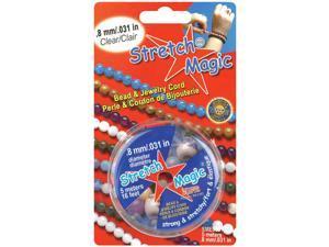 Stretch Magic Bead & Jewelry Cord .8mm 5 Meters/Pkg-Clear
